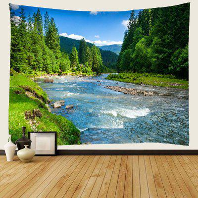 Forest Stream Fresh Landscape Pattern 3D Digital Printing Tapestry Water-resistant