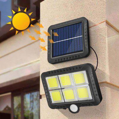 BRELONG BR-0132 120 LED Solar Wall Lamp COB Human Body Sensor Courtyard Indoor Outdoor Garden Light