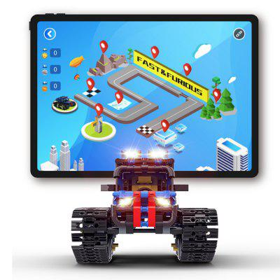 Knight Truck App Remote Control Intelligent STEAM Programming Toy 528pcs Multi-function Building Blocks