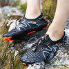 Men's Summer Hollow Out Sneaker Breathable Sports Shoes Wading Sandals - BLACK