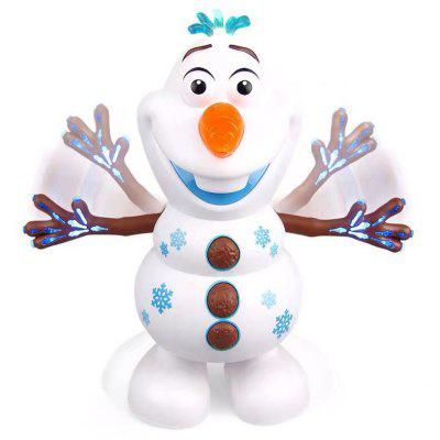 Cartoon Electric Dancing Snowman Toy with Light