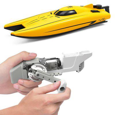 DIY010 Manual Power Boat Toy Puzzle Education Manual Assembly Speedboat