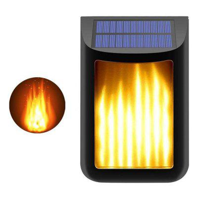 BRELONG BR-0137 Solar Wall Light LED Waterproof Outdoor Garden Landscape Flame Lamp