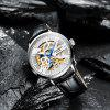 GUANQIN GJ16148 Men Automatic Mechanical Watch Water-resistant Fashion Trend Hollow Out Dial Wristwatch - MULTI-B