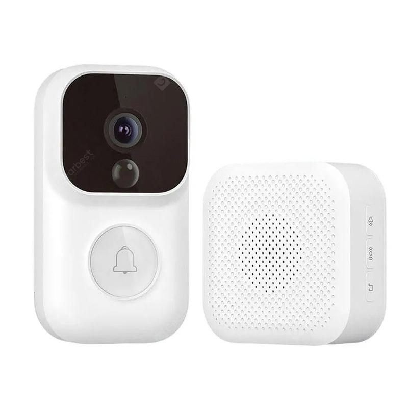 Smart 1080P Video Doorbell Set 72 Hour Free Loop Recording AI Face Detection Infrared Night Vision Home Security Alarm S Enchanced Version from Xiaomi youpin