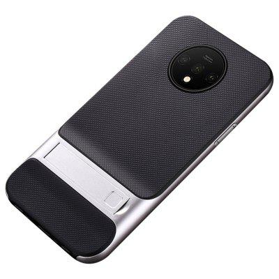 Naxtop 2 in 1 Soft TPU Hard PC Phone Case Cover with Invisible Bracket for OnePlus 7T Pro / 7T
