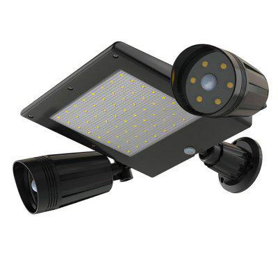 BRELONG BR-0138 76 LED Outdoor Solar Garden Light Body Induction Waterproof Double Head Wall Light