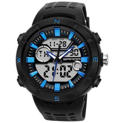 SANDA 776 mannen multifunctionele elektronische horloge Waterbestendig Special Forces Fashion Horloge