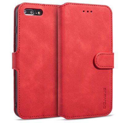 Luxury Leather Magnetic Phone Case with Card Slots Lanyard for iPhone 7 Plus / 8 Plus