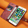 Luxury Magnetic Detachable Horizontal Leather Phone Case with Card Slots Wallet for iPhone 8 Plus / 7 Plus - FIREBRICK