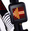 64-LED 80LM Intelligent Alarm Bicycle Taillight Automatic Induction Safety Brake Bike Light with Infrared Laser Warning - BLACK