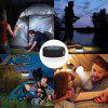 BRELONG BR-0140 Solar Camping Light Portable Rechargeable Outdoor Waterproof LED Tent Lamp - BLACK