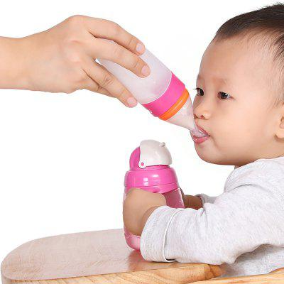 Fasola Milk Bottle Squeezing Baby Feeding Spoon Silicone Food Supplement Soft Spoon Feeder