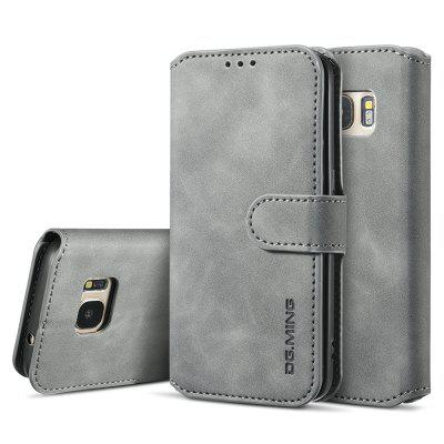 Luxury Leather Magnetic Wallet Phone Case with Card Slots Lanyard for Samsung Galaxy S8