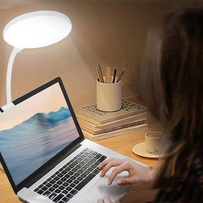 BRELONG BR-0142 USB oplaadbare LED tafellamp Clip Type 3 dimmen Kinderen leren Oogbescherming Light