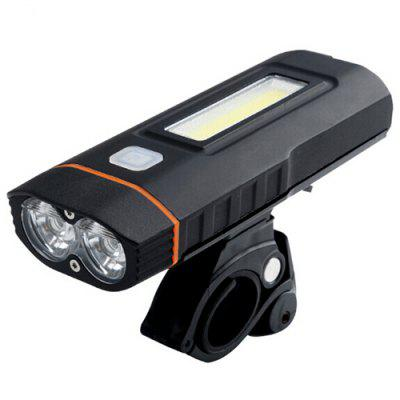 Bicycle Lamp Headlight USB Charging COB Highlight Work Light