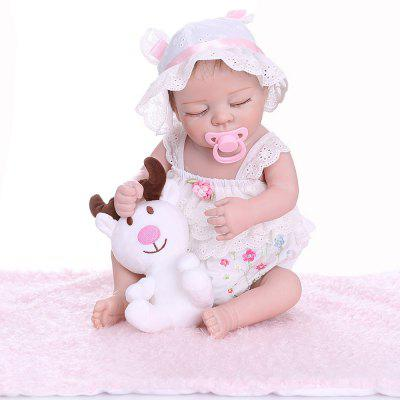 NPK 48CM Realistic Reborn Doll Soft Full Body Silicone Lifelike Pinky Sleeping Baby
