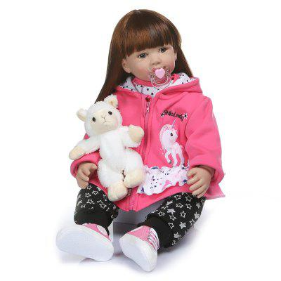 NPK 60CM High Quality Reborn Toddler Baby in Hoodie Dress Doll