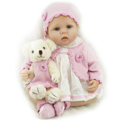 NPK 55CM Soft Silicone Newborn Baby Reborn Doll for Children