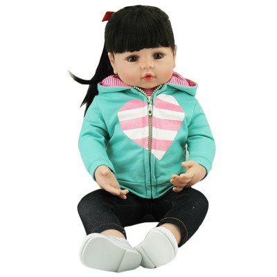 NPK 47CM Silicone Girl Reborn Baby Doll Toy for Kids