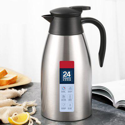 304 Stainless Steel Vacuum Kettle Home Use Water Temperature Keeper Insulation Pot Large Capacity 2L