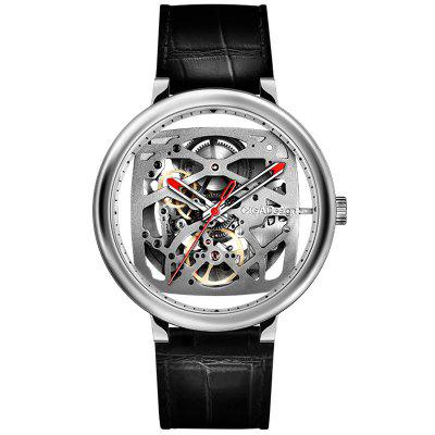 CIGA Ontwerp Man Hollow Out Mechanische horloges Aangepaste Movement Leisure Horloge