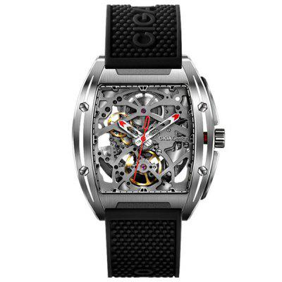 CIGA Design Mechanical Watch Z Series Men Square Dial Leisure Business Wristwatch