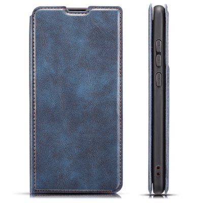 Retro Mesh Breathable Ultra-thin Flip Phone Case PU Leather Protective Cover for Samsung Galaxy A30S