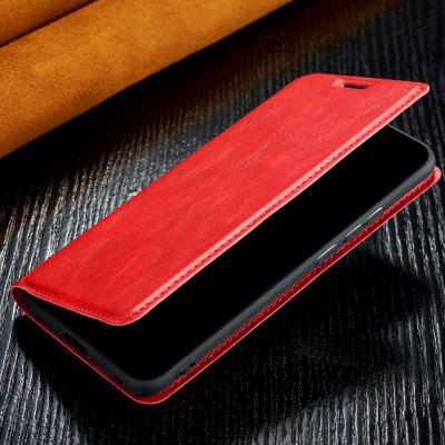Retro Breathable Ultra-thin Flip Phone Case PU Leather Protective Cover for Samsung Galaxy A20