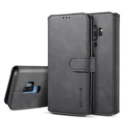 Retro 3-in-1 Ultra-thin Flip Phone Case PU Leather Protective Cover with Lanyard for Samsung Galaxy S9 Plus