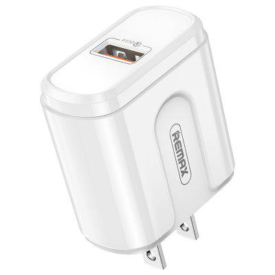 REMAX US Plug Quick Charger Adapter 2.4A Dual USB-poorten