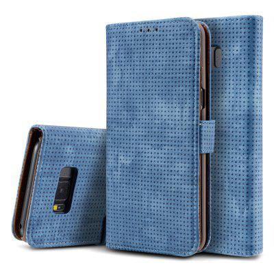 Retro Mesh Breathable Ultra-thin Flip Phone Case PU Leather Protective Cover for Samsung Galaxy Note 8
