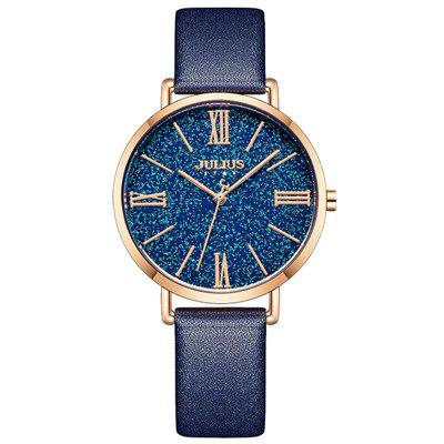JS-039 Couple Water-resistant Quartz Watch Roman Numeral Dial Wristwatch