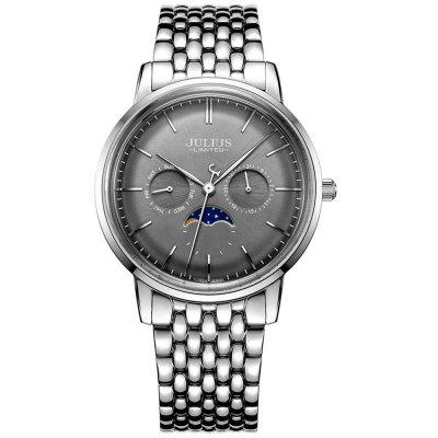 JAL-041 Couple Fashion Dial Business Watch Calendar Water-resistant Wristwatch for Man / Woman
