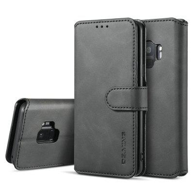 Luxury Leather Magnetic Wallet Phone Case with Card Slots Lanyard for Samsung Galaxy S9
