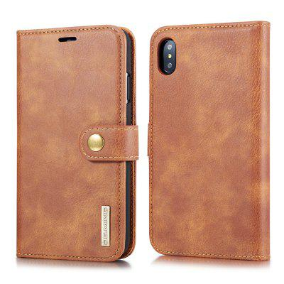 Retro 3-in-1 Multifunction Flip Phone Case PU Leather Protective Cover for iPhone XS Max