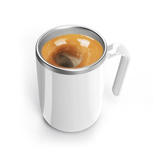 Bilikay Automatic Stirring Magic Mug Hot Water Semiconductor Power Generation Belly Magnetic Coffee Mixing Cup Drinkware Ceramic Cup
