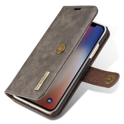 Luxury Magnetic Detachable Horizontal Leather Phone Case for iPhone X / XS