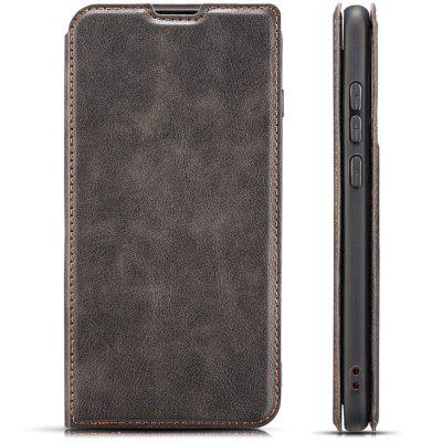 Retro Simple Ultra-thin Magnetic Leather Phone Case with Holder Card Slots Lanyard for Samsung Galaxy M30
