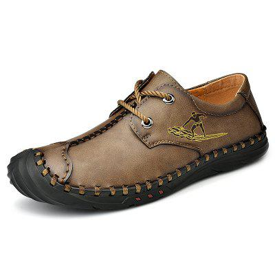 Men's Handmade Casual Shoes Large Size Durable Driving Footwear