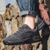Men's Mountaineering Outdoor Sports Shoes Handmade Lace Up Sneaker - DARK GRAY