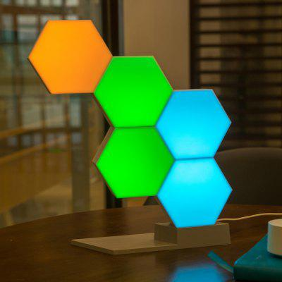 Creative Smart Geometry Assembling Quantum Light Bedroom Wall Building Blocks Ambient Lighting Lantern