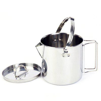 Outdoor Stainless Steel Teapot Kettle 1.2L Mountaineering Camping Cookware Hanging Portable Picnic Coffee Pot