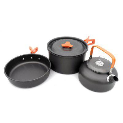 D8-308 Cookware Teapot Package 2-3 People Camping Set