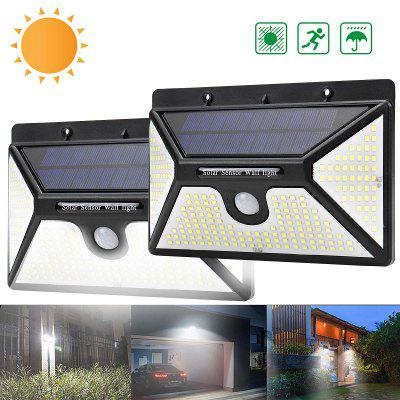 BRELONG BR-0148 218 LED Solar Powered 3000lm PIR Motion Sensor Wall Light Outdoor Garden Lamp