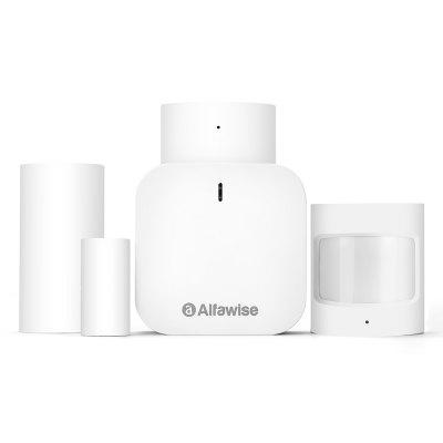 Alfawise Z1 Smart Home Security Kit Wi-Fi Zigbee brána Door Sensor Window Voice Assistant Intelligent Home Alarm Kit
