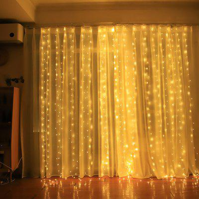300 LED 3 x 3m USB Star Light String Gordijn Light decoratieve Music Remote Control Gordijnen