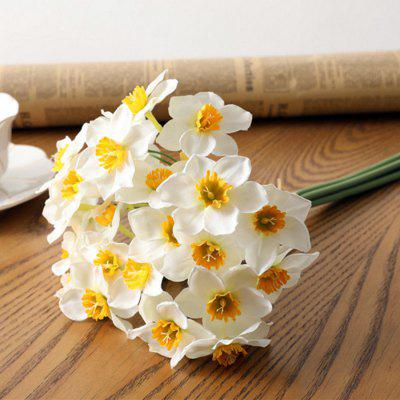 High Simulation Narcissus Flowers To Home Decoration Bouquet Bundle 6 1