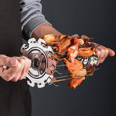 Kebab Skewer Cage 304 Stainless Steel Cage Kebabs Cage Oven Roasted Chicken Wings Rotating Parts