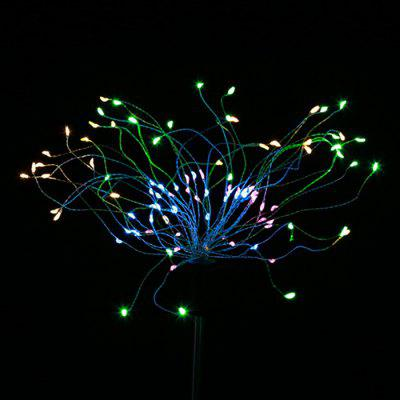 120 LED Solar Powered Outdoor Rasen Licht Outdoor 8 Beleuchtungsmodi Dekorative Starburst Stake Lampe Oval LED Licht 2Stk